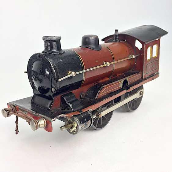 MÄRKLIN track 0, R950, Trailing tender locomotive, maroon/black, clockwork intact, with Tender R959, more followers, and rails. - photo 6