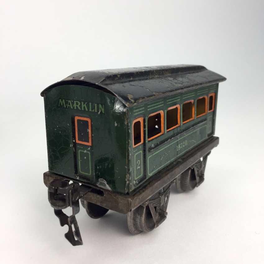 MÄRKLIN track 0, R950, Trailing tender locomotive, maroon/black, clockwork intact, with Tender R959, more followers, and rails. - photo 9