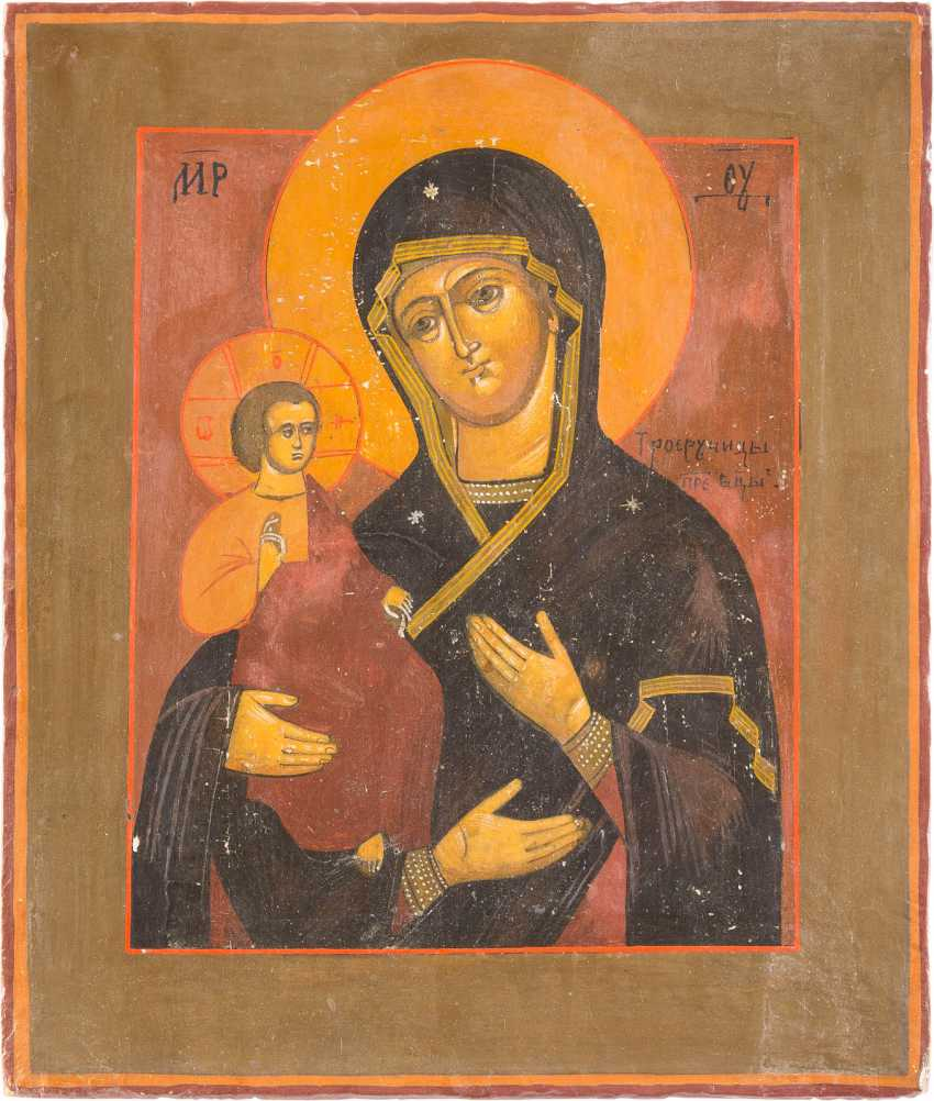 THREE ICONS: THE MOTHER OF GOD OF KAZAN, THE THREE HANDED MOTHER OF GOD, AND FESTIVE ICON - photo 4