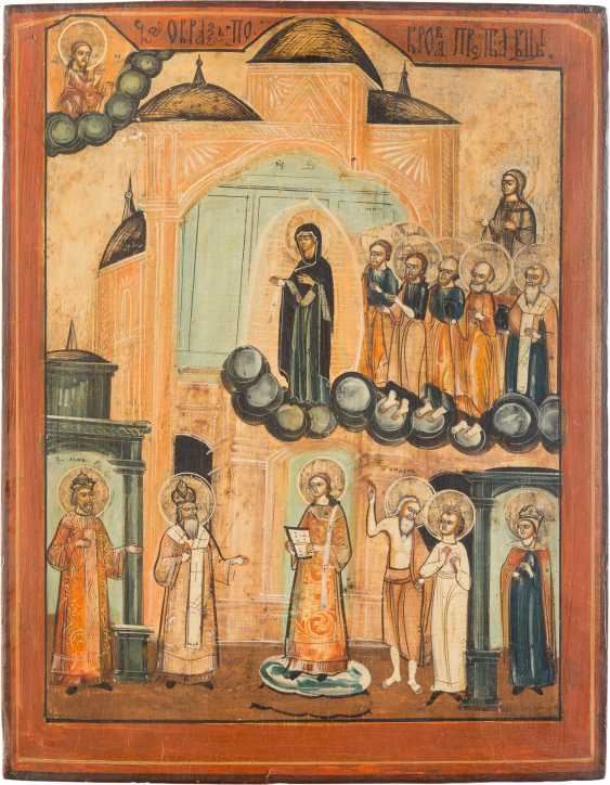 LARGE-SCALE ICON OF THE MOTHER OF GOD POKROV - photo 1
