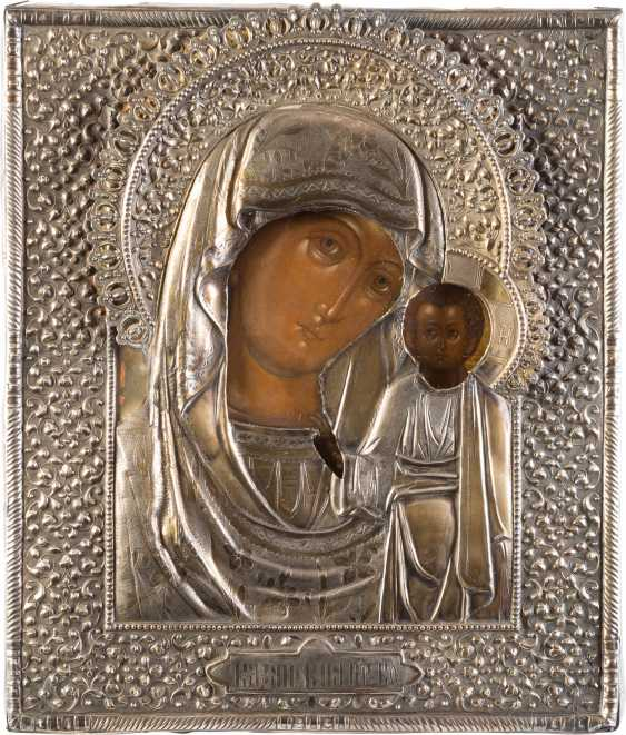 ICON OF THE MOTHER OF GOD OF KAZAN (KAZANSKAYA) WITH VERMEIL-OKLAD - photo 1