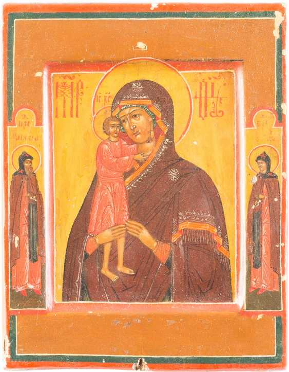 SMALL ICON OF MOTHER OF GOD, 'FINDING THE LOST' WITH VERMEIL-RIZA - photo 2