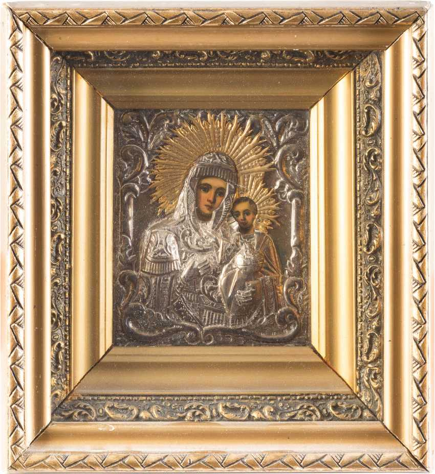TWO ICONS WITH MERCY PICTURES OF THE MOTHER OF GOD WITH OKLAD AND BLESSINGS OF THE CROSS - photo 2