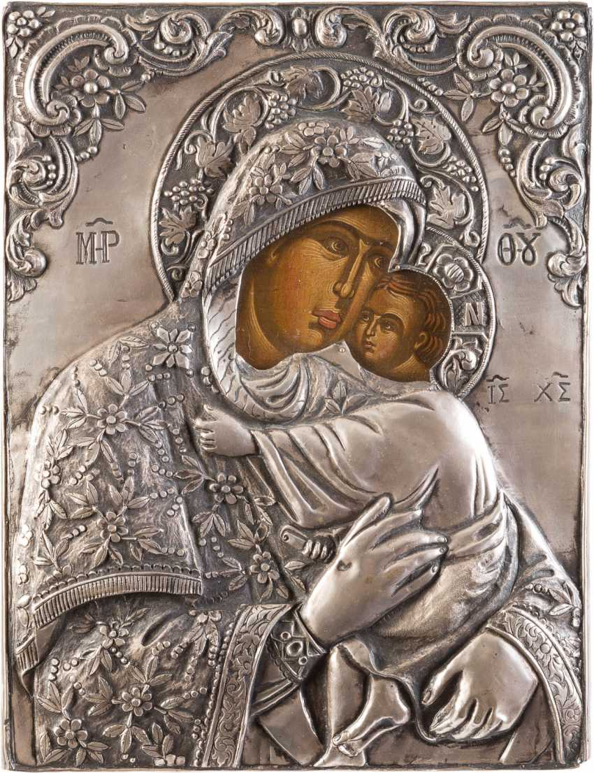 THREE ICONS WITH OKLAD: TWO MIRACULOUS IMAGES OF THE MOTHER OF GOD AND SAINT - photo 2