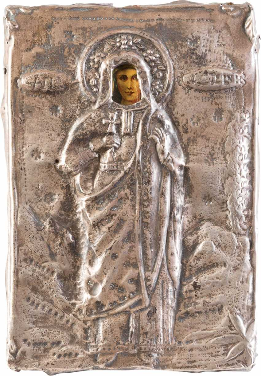 THREE ICONS WITH OKLAD: TWO MIRACULOUS IMAGES OF THE MOTHER OF GOD AND SAINT - photo 3