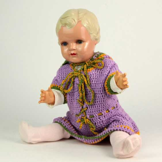 Minerva celluloid toy doll girl 47 cm, Buschow & Beck, 1934 - photo 1