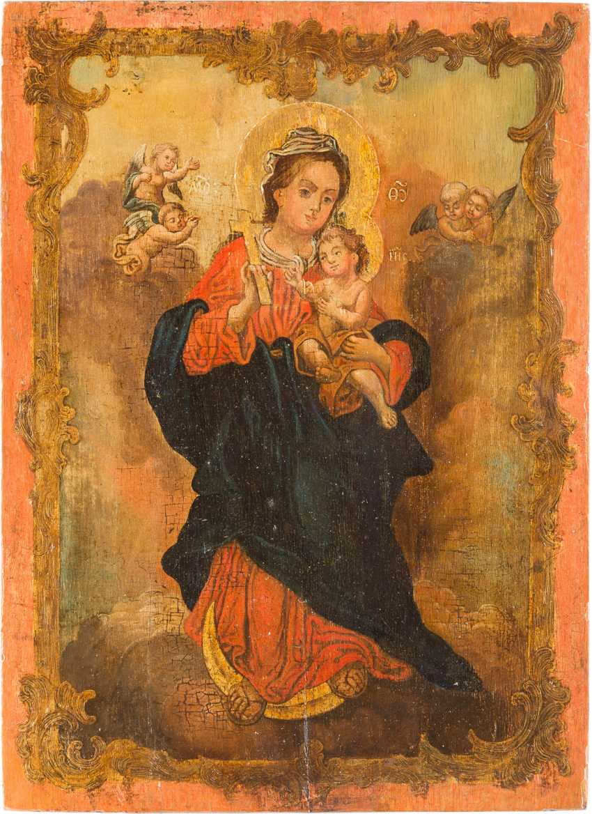ICON WITH THE CRESCENT MOON MADONNA - photo 1