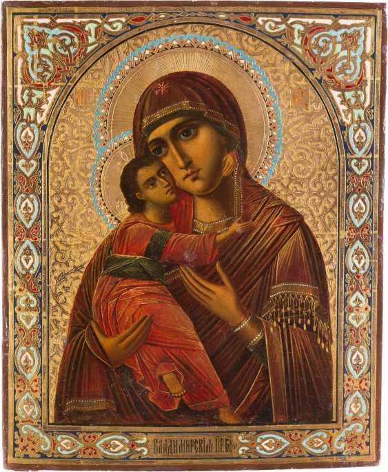 LARGE-SCALE ICON OF THE MOTHER OF GOD OF VLADIMIR (VLADIMIRSKAYA) - photo 1