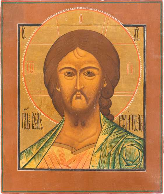 LARGE ICON OF CHRIST THE GRIMME EYE' - photo 1