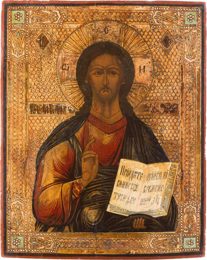 THREE-PIECE DEESIS: CHRIST PANTOCRATOR FLANKED BY THE MOTHER OF GOD AND JOHN THE FORERUNNER - photo 3