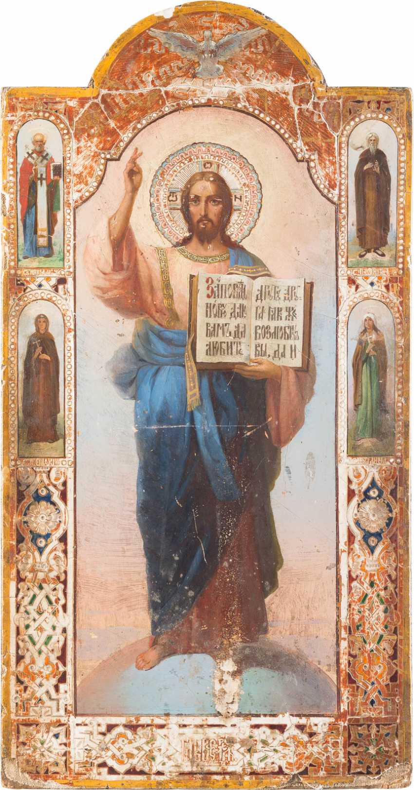 LARGE-SIZED ICON OF CHRIST THE RULER OF THE WORLD - photo 1