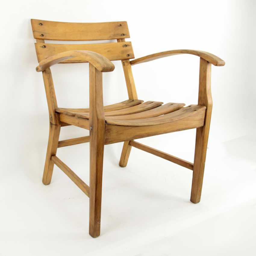 Armrest Chair / Wooden Chair / Garden Chair, Bauhaus - photo 1
