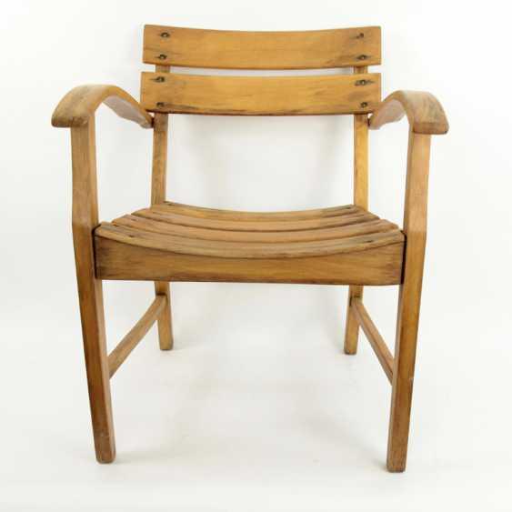 Armrest Chair / Wooden Chair / Garden Chair, Bauhaus - photo 2