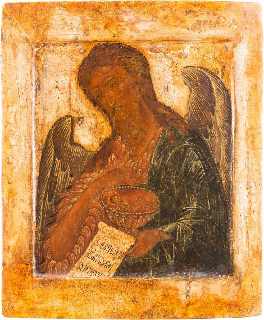 ICON OF JOHN THE PRECURSOR FROM A DEESIS - photo 1