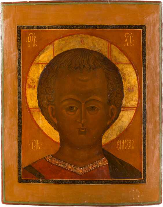 LARGE ICON OF CHRIST EMMANUEL WITH OKLAD - photo 2