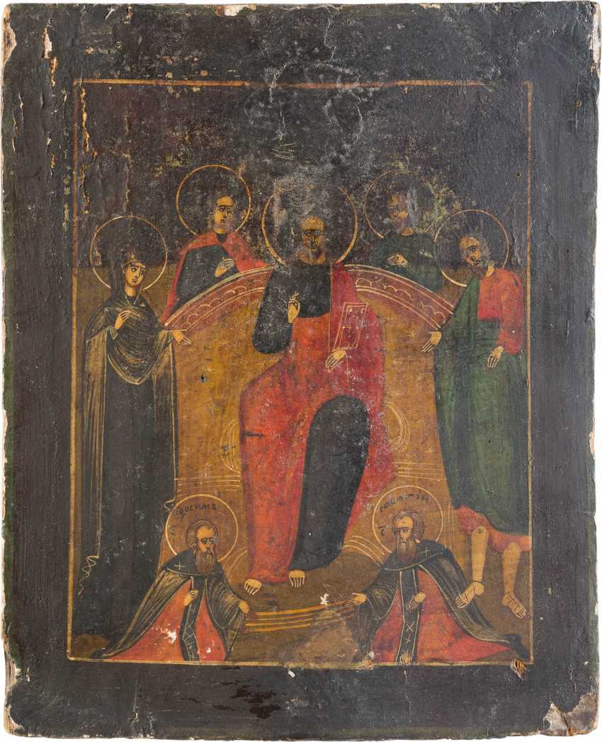 THREE ICONS: CHRIST PANTOCRATOR, EXTENDED DEESIS AND FESTIVE ICON - photo 3