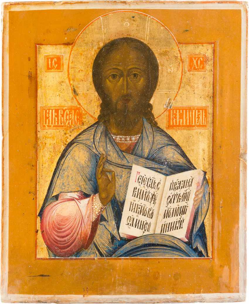 ICON WITH CHRIST PANTOKRATOR - photo 1