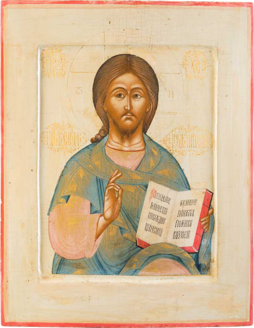 FINE ICON WITH CHRIST PANTOKRATOR - photo 1