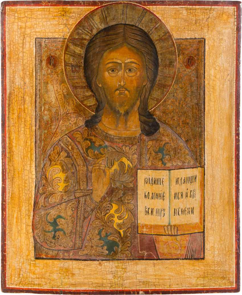 LARGE-FORMAT ICON WITH CHRIST PANTOKRATOR - photo 1