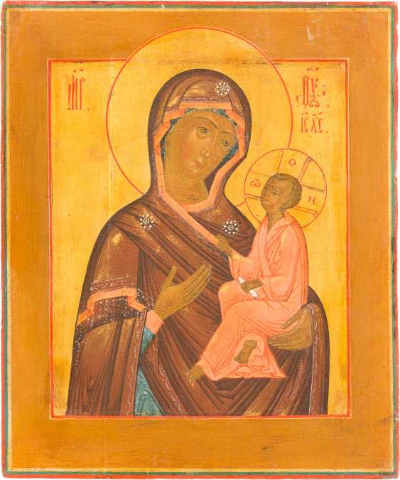 TWO ICONS OF CHRIST PANTOKRATOR AND MOTHER OF GOD OF TIKHVIN (TICHWINSKAJA) - photo 3