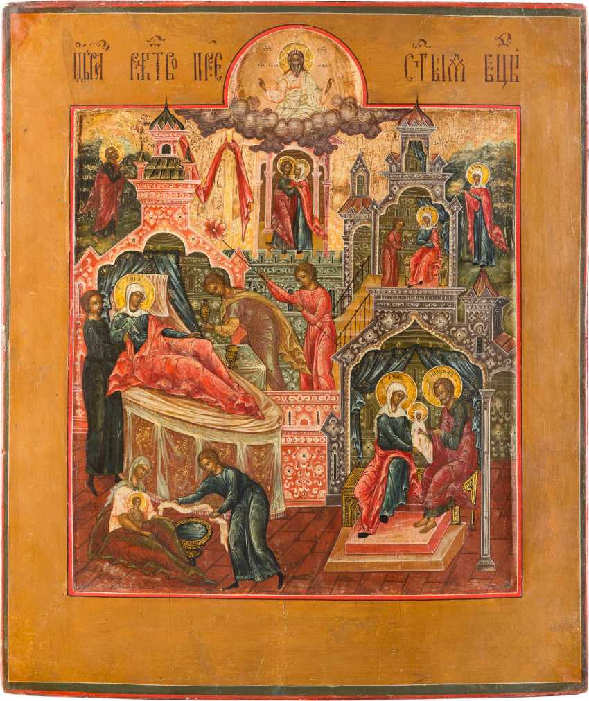 A FINE ICON OF THE NATIVITY OF THE MOTHER OF GOD - photo 1
