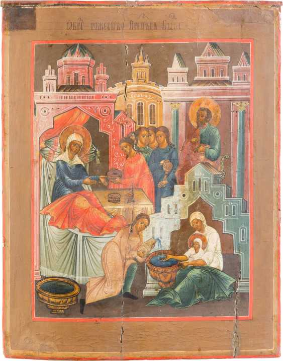 TWO LARGE ICONS: BIRTH AND TEMPLE OF DEMISE OF THE MOTHER OF GOD - photo 2