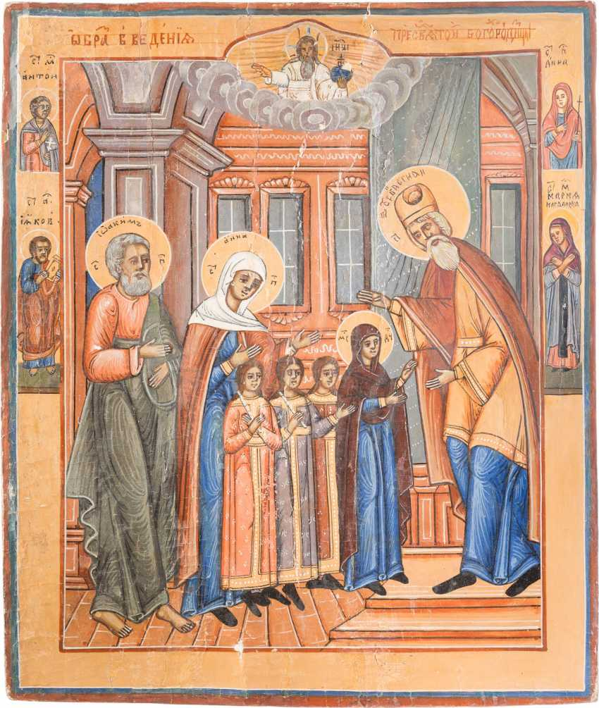 TWO LARGE ICONS: BIRTH AND TEMPLE OF DEMISE OF THE MOTHER OF GOD - photo 3