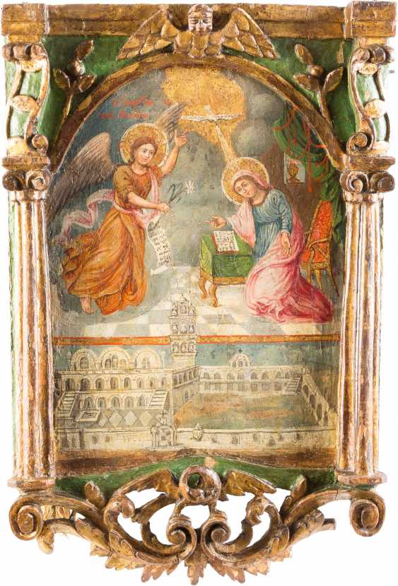 A BIG ICON WITH THE ANNUNCIATION OF THE MOTHER OF GOD - photo 1