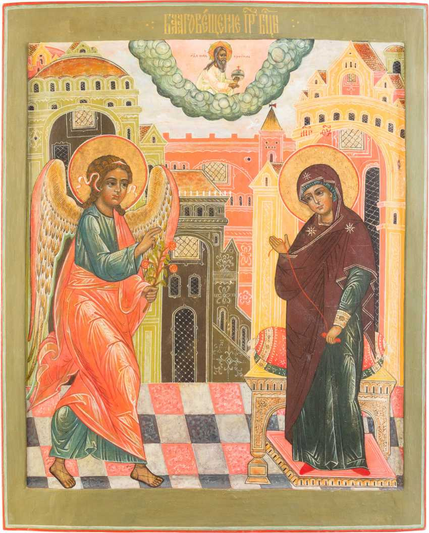 LARGE-FORMAT ICON WITH THE ANNUNCIATION OF THE MOTHER OF GOD - photo 1