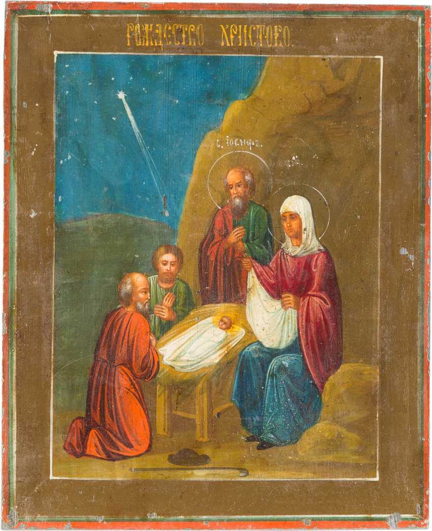 A SMALL ICON WITH THE WORSHIP OF CHRIST - photo 1
