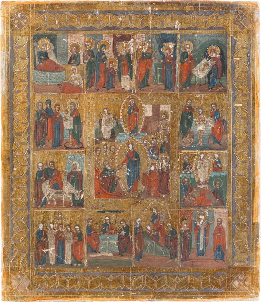 ICON OF THE HARROWING OF HELL AND RESURRECTION, AS WELL AS TWELVE HIGH-STRENGTH - photo 1