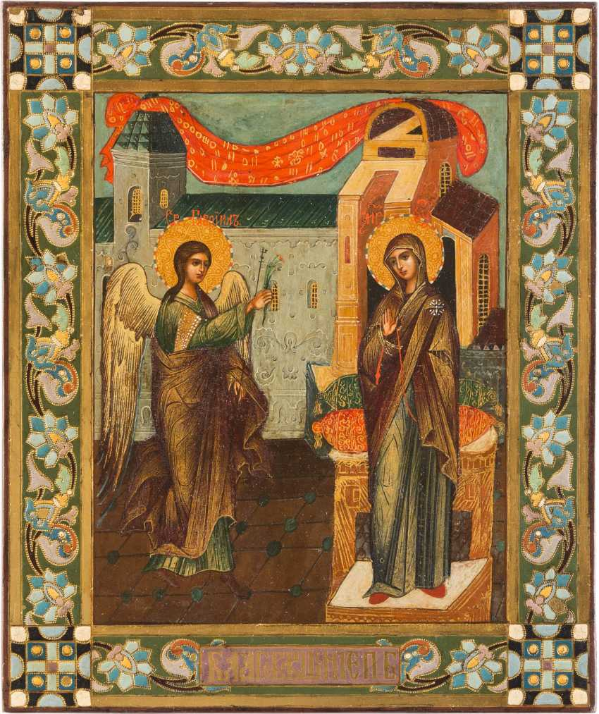 ICON WITH THE ANNUNCIATION OF THE MOTHER OF GOD - photo 1