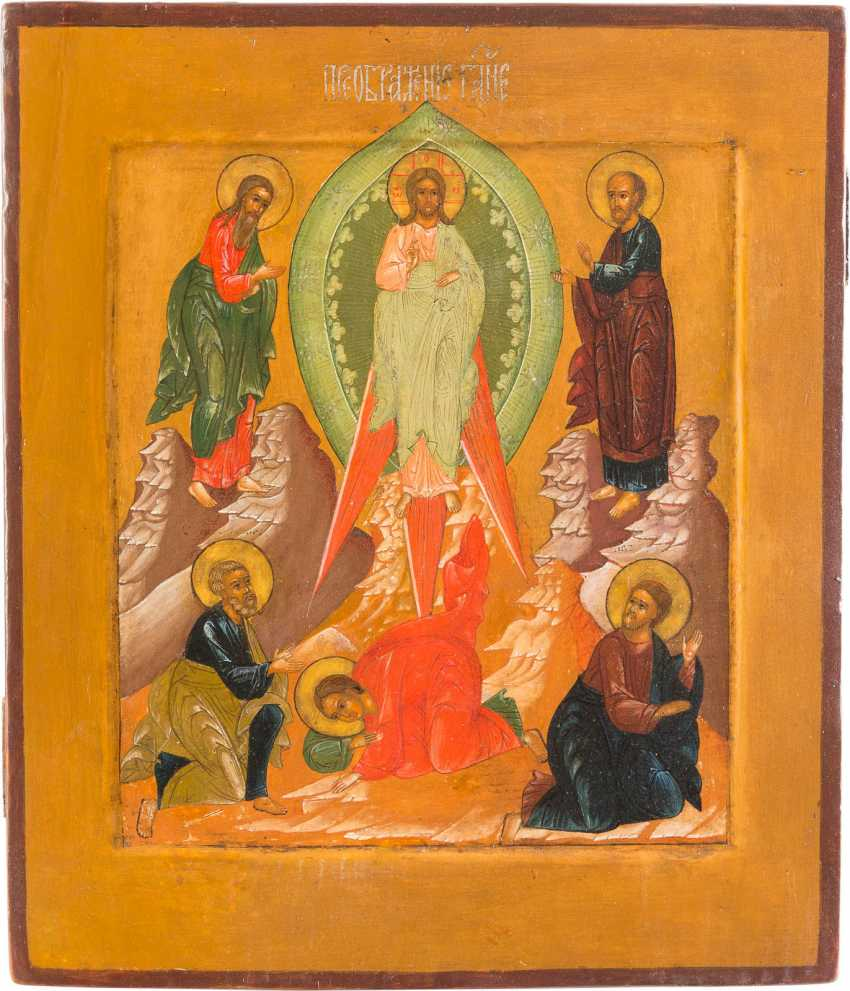 ICON WITH THE TRANSFIGURATION OF CHRIST - photo 1