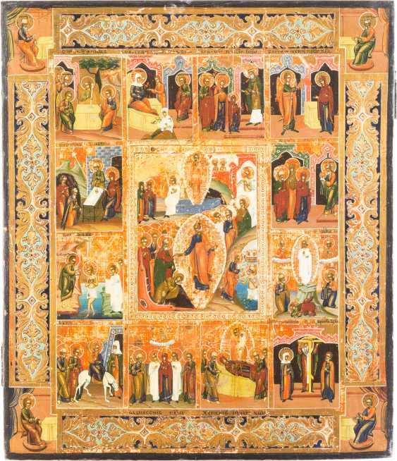 ICON THE DESCENT OF CHRIST INTO HELL AND THE TWELVE GREAT FEASTS OF THE ORTHODOX CHURCH YEAR - photo 1