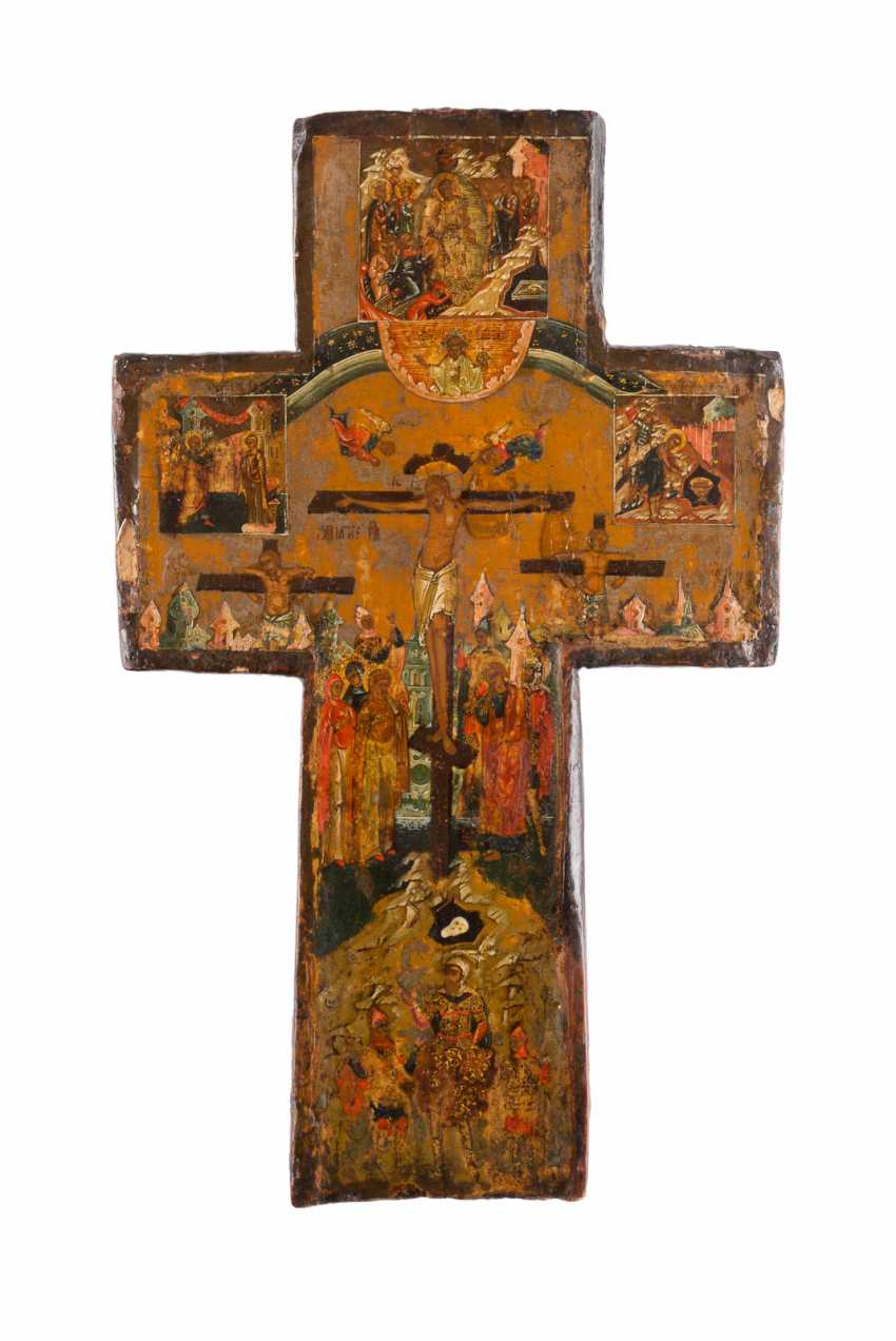 VERY FINE CROSS, WITH THE CRUCIFIXION OF CHRIST - photo 1