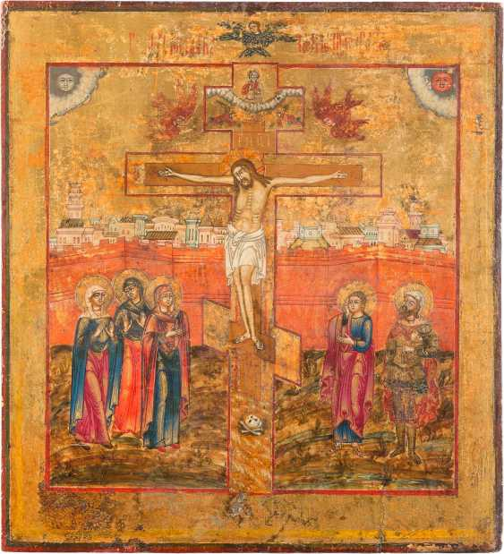 LARGE-FORMAT ICON WITH THE CRUCIFIXION OF CHRIST - photo 1