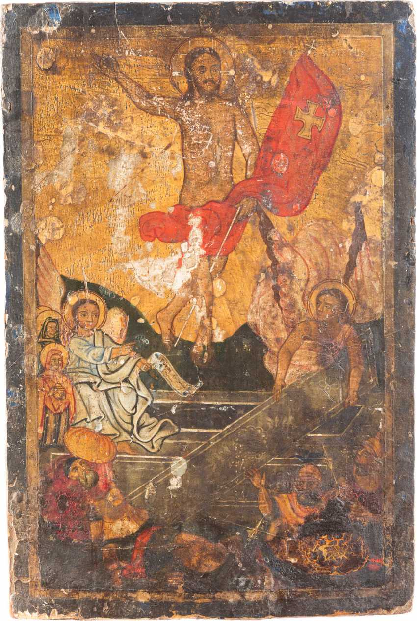 ICON WITH THE RESURRECTION OF CHRIST - photo 1