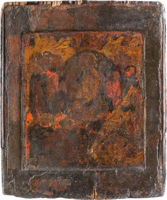 ICON THE RESURRECTION AND DESCENT INTO HELL OF CHRIST WITH THE DELIVERANCE OF THE FOREFATHERS FROM HADES - photo 1