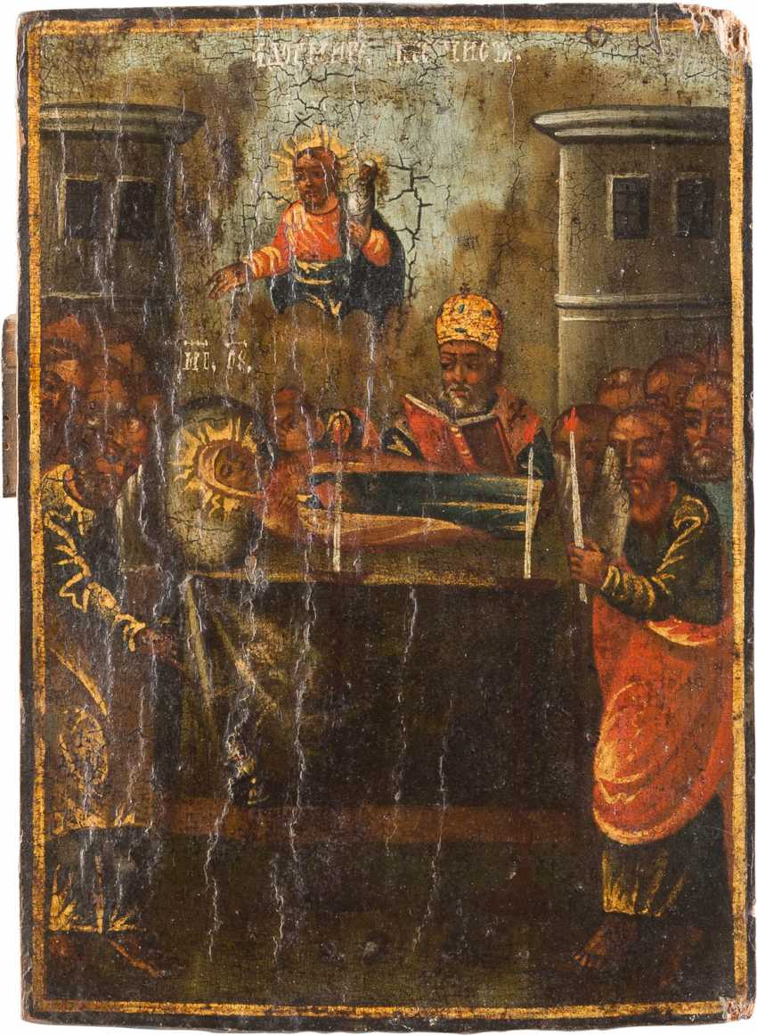 A SMALL ICON WITH THE DORMITION OF THE MOTHER OF GOD - photo 1