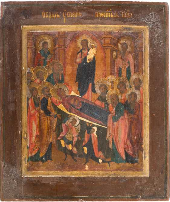 THREE ICONS: HIGH FEASTS OF THE ORTHODOX CHURCH YEAR DORMITION OF THE MOTHER OF GOD - photo 4