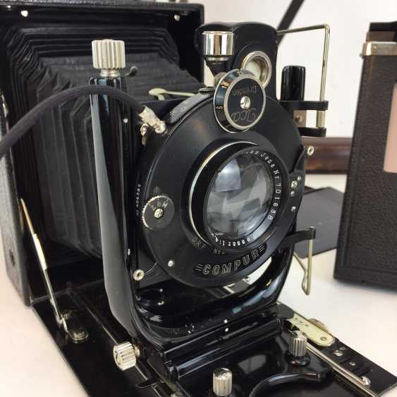 Plate camera Zeiss IKON, ICA Aktienges. Dresden, model 225, with accessories, tripod, leather bag. Perfectly!! - photo 1