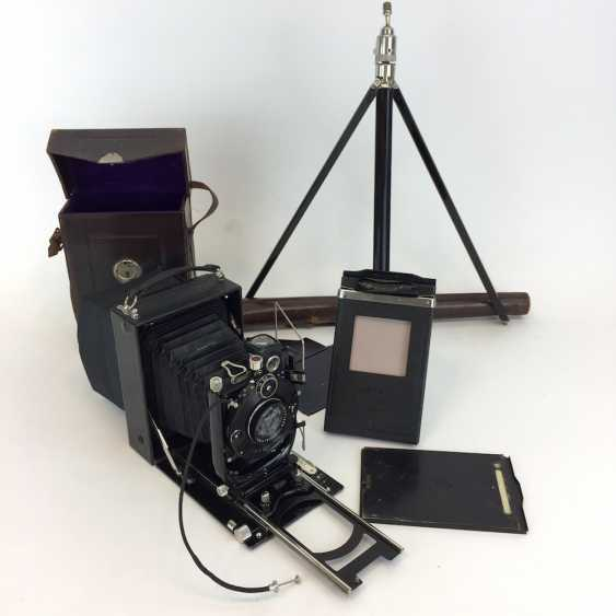 Plate camera Zeiss IKON, ICA Aktienges. Dresden, model 225, with accessories, tripod, leather bag. Perfectly!! - photo 2
