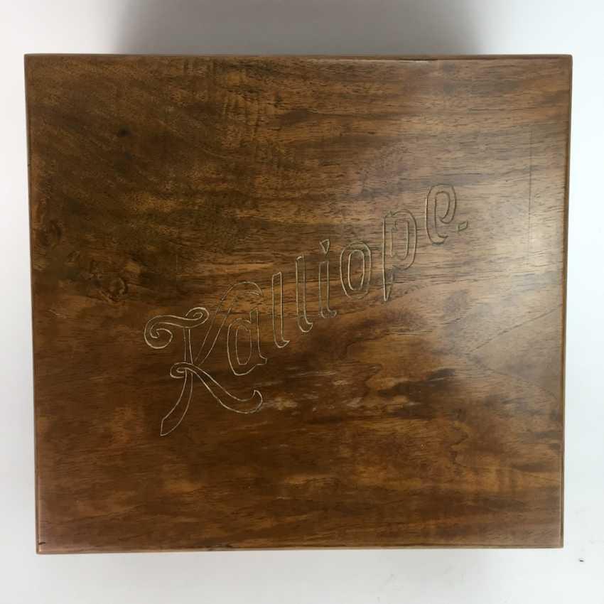 Kalliope music box / Polyphon / Symphonium: Kalliope, Leipzig / Dippoldiswalde, 17 perforated plates, C. 1910, funktionstüc - photo 3