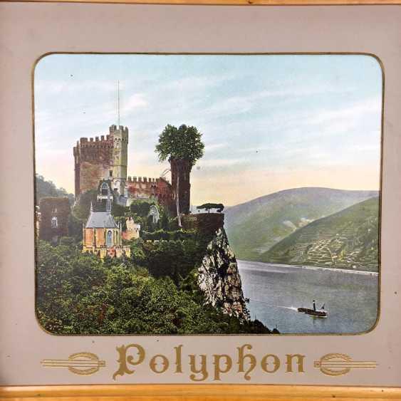 Polyphon / Symphonium / music box / roll box with 14 very beautiful perforated plates, walnut, CA 1900, Leipzig, very good! - photo 3
