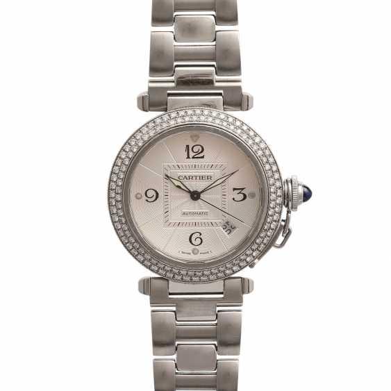 CARTIER Pasha women's watch, Ref. 2379, stainless steel m