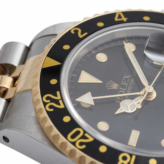 ROLEX GMT-Master II mens Watch, Ref. 16713LN, environ 1992. En acier inoxydable/Or 18K. - photo 5