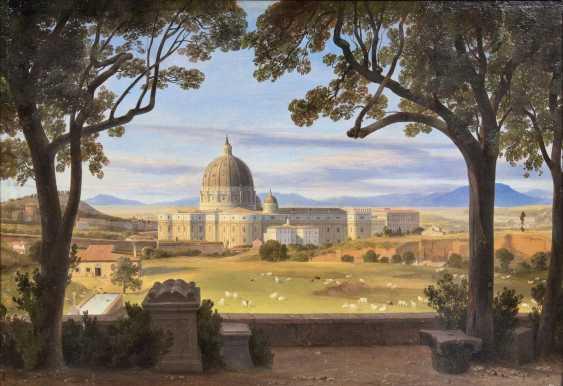Вид от виллы Дориа на собор Святого Петра - фото 1