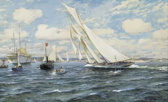 Target passage of Hamburg, the Kiel week prior to Eckernförde 1903 - photo 1