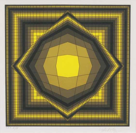 Geometric composition in Black and Yellow - photo 1