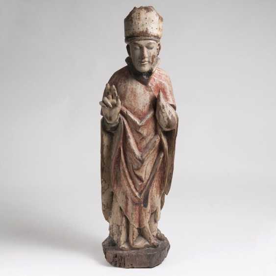 Spätgotische Figur 'Bischof' - photo 1
